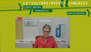 Generaldirektorin der documenta und Museum Fridericianum gGmbH beim 12. KulturInvest!-Kongress
