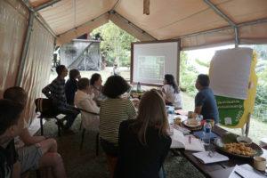 Das Artistic Team der documenta fifteen bei seinem ersten Treffen in Tanakita, Indonesien