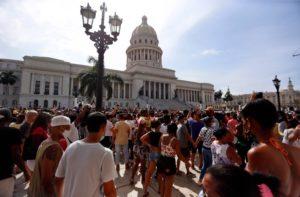 Protests in Havana, Cuba, 2021